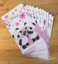 Filofax Personal Organiser Planner - Pretty Panda Monthly Dividers - Laminated