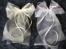 20 Hochzeit Autoschleifen Antennenschleife Autoschmuck Organzaband SONDERPOSTEN