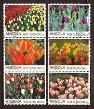 48T3 ANGOLA  6  Timbres obliteres: joli parterre de fleurs
