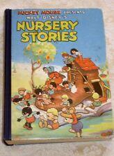 WALT DISNEY'S NURSERY STORIES (1937) SOLID VG Hardcover