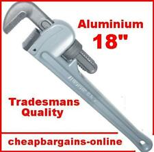 """18"""" ALUMINIUM PIPE WRENCH MONKEY WRENCH PLUMBING WRENCH STILSONS ADJUSTABLE TOOL"""
