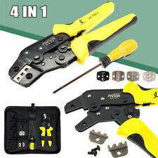 Ratchet Crimper Plier Crimping Tool Cable Wire Electrical Terminals Withdies Kit