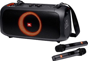 New JBL Party Box On-The-Go - Portable party speaker - built-in lights & 2x Mics