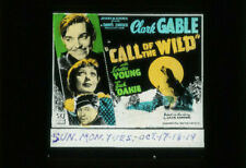 CLARK GABLE Film Vintage 1935 LORETTA YOUNG Movie Glass Slide CALL OF THE WILD