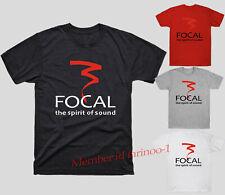 Focal Loudspeaker Logo Tee Shirt Reprint Gildan