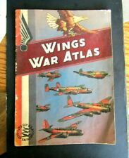 1942 WINGS CIGARETTES WAR ATLAS WW 2 ALL COLOR MAPS 30 PAGES PATRIOTIC SCARCE 1