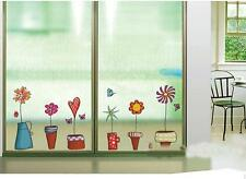 Wall Stickers Potted Flower Pot Kitchen Bathroom Stickers Waterproof Decor HY