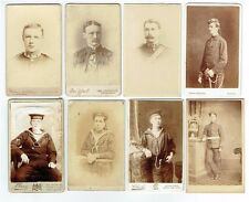 OLD CDV PHOTOGRAPHS MILITARY & NAVAL UNIFORM STUDIO PORTRAITS ANTIQUE 1880S-90S