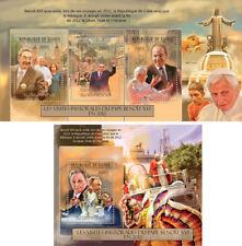 Pope Benedict Xvi Religion Vatican Politics Guinea Mnh stamp set