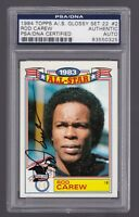 ROD CAREW Signed Auto 1984 Topps All Star Card #2 - PSA DNA slabbed 83550325