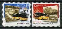 Switzerland 2019 MNH Postbus Routes 100 Yrs 2v Set Transport Buses Busses Stamps