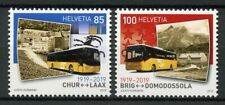 Switzerland 2019 MNH Postbus Routes 100 Yrs 2v Set Transport Buses Busses Stamps
