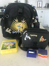 New listing Vintage Pokemon backpack, Tupperware, Gameboy fanny pack, and 7 Gameboy cases