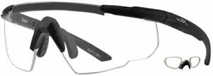 [BEST PRICE] WILEY X SABER, Matte Black with Clear Lens and RX Insert