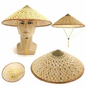 Asian Vietnamese Japanese Coolie Straw Bamboo Cone Sun Hat Farmer Fishing Garden