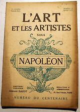 NAPOLEON/L ART ET LES ARTISTES SOUS../REVUE/N° SPECIAL/1921