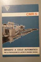 Prospectus Brochure Années 70 Ditta Elf - Usine Fabrication Marbre Résine