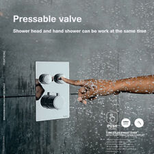 Chrome 2 Ways Out Thermostatic Valve Wall Mount Shower Control Valve