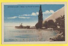 """cpa FRANCE Old Postcard VEYRIER BATEAU """"La FRANCE"""" au PONTON"""