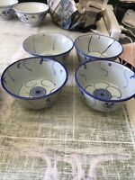 """Vintage Porcelain Rice or Soup Bowls Made In China Set Of 4 - 4.5""""x2.5"""""""