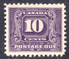 CANADA POSTAGE DUE #J10 10c DARK VIOLET, 1930, VF, MLH
