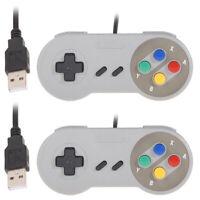 2pcs Super Game-Controller SNES USB-Gamepad-Klassikers Controller für PC-MA