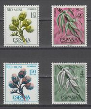 RIO MUNI (1967) NUEVO SIN FIJASELLOS MNH ESPAÑA - EDIFIL 76/79 FLORES