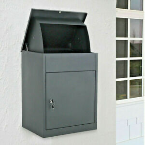 DWD Large Lockable Parcel Delivery Box Secure Container Courier Package Postbox
