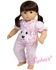 "Sophia's® 15"" Doll Clothes Pink Bear Romper for 15"" Dolls"