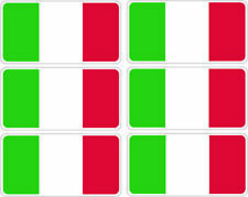 SelfAdh small ITALIAN FLAG  stickers/decals (SET OF 6) .Racecar/Cars/Boats/toys