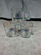3 VINTAGE 1984 McDONALDS LOS ANGELES OLYMPIC CLEAR ANCHOR HOCKING GLASS MUGS