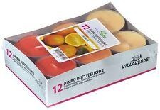 12 STK Arietta Jumbo Maxi Duft-Teelichter/Kerze Orange 8Std. Duftkerzen