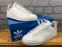 ADIDAS STAN SMITH WHITE SILVER HEEL TRAINERS MANY SIZES RRP £70 CHILDRENS LADIES
