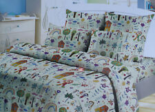 Bedding Set 1,5 size My life My family in child drawing 100% cotton