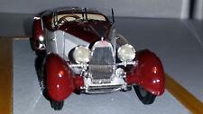 ILARIO / CHROMES:BUGATTI type 57 ROADSTER 1934 GANGLOFF BLANC/BORDEAUX 1/43