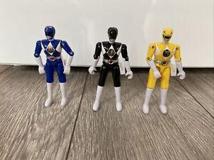 Power Rangers Vintage Figures X 3 Bundle Blue Black Yellow