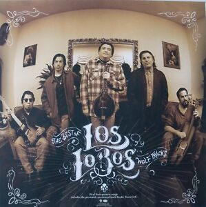 """LOS LOBOS """"THE BEST OF, WOLF TRACKS"""" POSTER -1980's East Los Angeles Latin Rock"""
