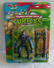 1992 VINTAGE NEW MOC MINT ON CARD TMNT TEENAGE MUTANT NINJA TURTLES FOOT SOLDIER