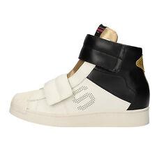Damen schuhe SERAFINI 37 sneakers weiß schwarz gold leder gummi AF859-B