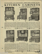 1920 PAPER AD 2 Sided Kitchen Cabinet Cupboard Hoosier Type Solid Oak Snow White