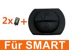 2Tasten Gummitaste für Smart Auto Schlüssel Gehäuse 454 forfour + 2x Taster