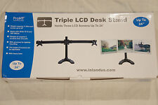 """Inland 05323 Triple LCD Desk Stand Will Hold up to 24"""" Three LCD Screens"""