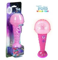 Trolls World Tour Sing-a-Long Microphone in Pink with Flashing Lights Trolls 2