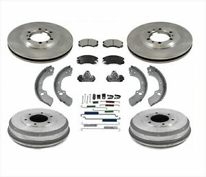 for 98-99 Rodeo Amigo New Brake Rotors Drums & Brake Shoes Springs Wheel C 8pc