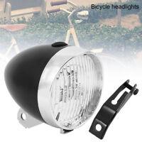 Classical Black Vintage Bicycle Bike 3 LED Light Headlight Front Retro Head Lamp