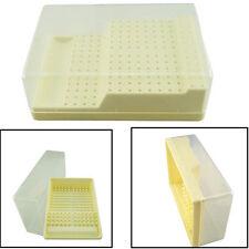 Dental Bur Block Holder Station with Lid - Plastic Holds 168 Burs RA - FG