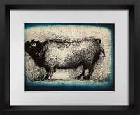 "Marino MARINI Lithograph Ltd EDITION ""Toro "" 1942  + Custom FRAME 20x24in"