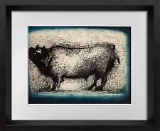 "Marino MARINI Lithograph Ltd EDITION ""Toro "" 1942  + Custom FRAME 20x24in"