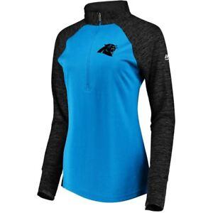 Carolina Panthers Women's Ultra Streak 1/2 Zip Pullover Top jacket