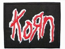 """KORN Red Logo Embroidered Iron On Patch Badge 3""""/7.5m"""